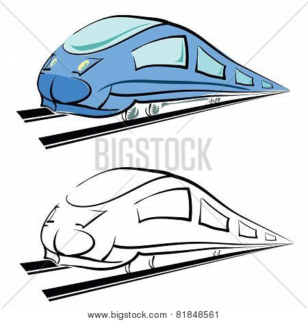 Modern Train Silhouette