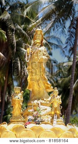 Statue Guan Yin Chinese Goddess Of Mercy