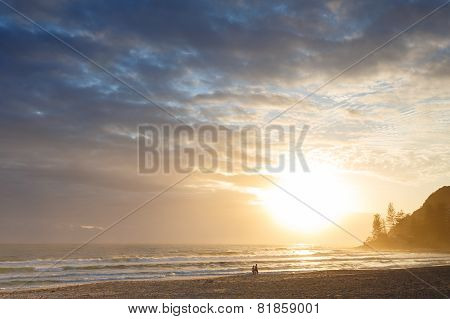 Australian Beach At Sunrise