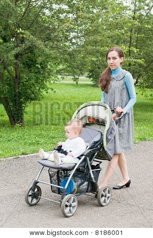 Mother With Stroller
