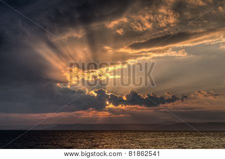 Sunset at Vladivostok Russia