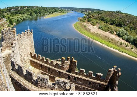 Ruins Of A Medieval Castle, Almourol, Portugal