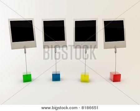 empty polariod photos