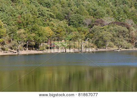 Andong, Korea - October 17, 2014: Jusanji Reservoir