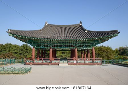 Gyeongju, Korea - October 18, 2014: Architecture At Donggung And Wolji