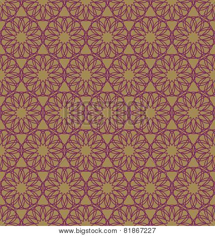 Abstract geometric round pattern