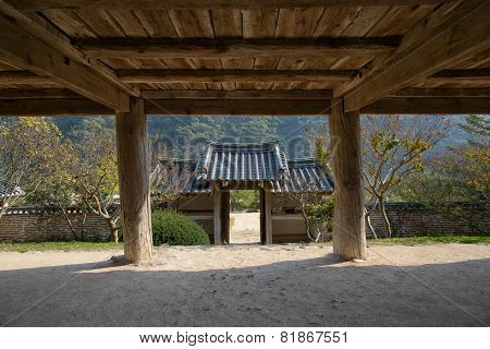 Andong, Korea - October 16, 2014: Entrance Of Byeongsanseowon