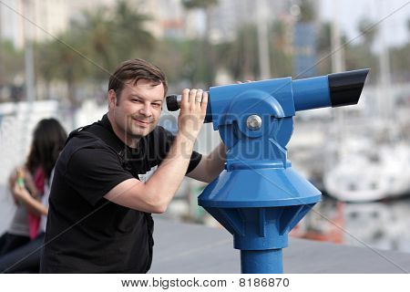 Man With Telescope