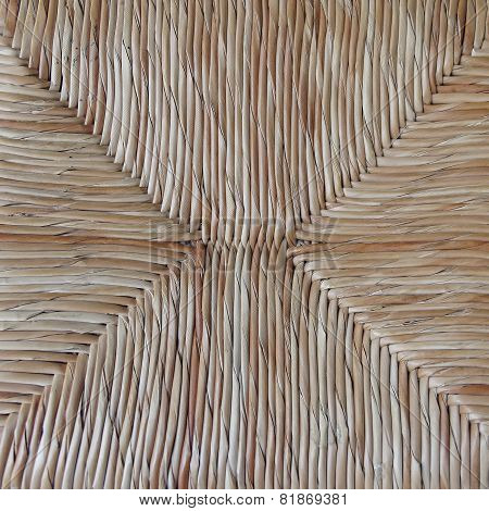 straw chair closeup natural background