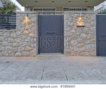 Athens Greece contemporary house door