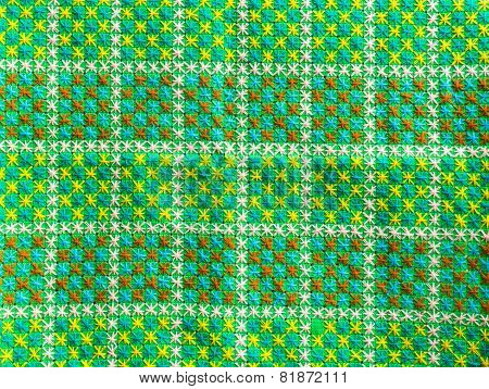 embroidered fabric texture background