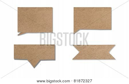 old paper use as label banner or text box isolated