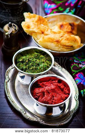 Adjika Sauce, Traditional Hot Caucasian Sauce.