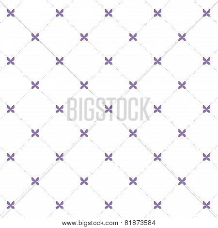 Seamless Pattern: Symmetrically Placed The Butterfly On A White Background