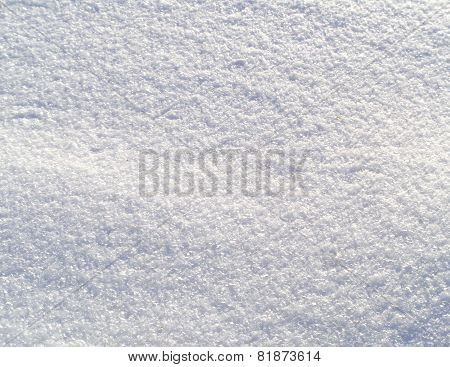 Snow Background Closeup - Stock Photo