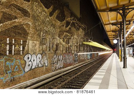 Graffitti In Savigny Platz Station In Berlin