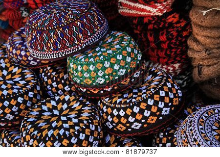 Embroidered Skull-caps. Turkmenistan. Ashkhabad
