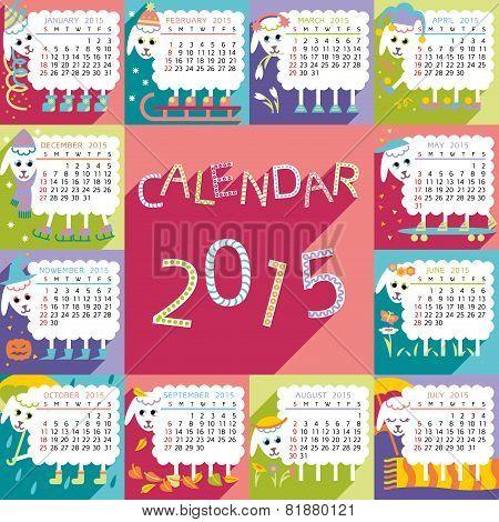 calendar 2015 sheep