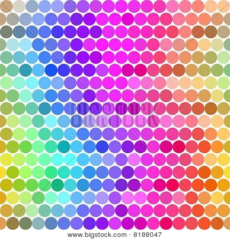 Spectrum Of Colored Dots