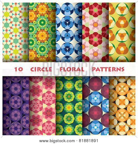 Circle Beauty Floral Pattern Style