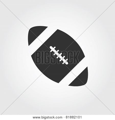 American football icon, flat design