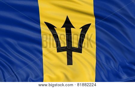3D Barbados flag (clipping path included)