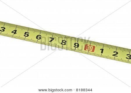 Tape Measure Isolated On The White