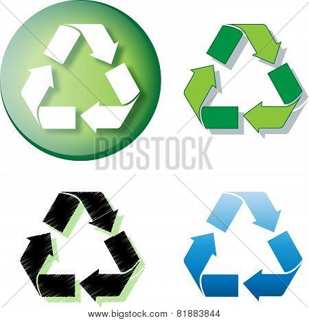 Recycle Logo Round