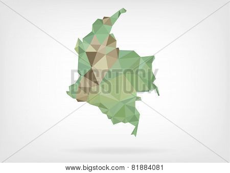 Low Poly map of Colombia