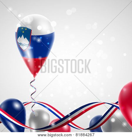 Flag of Slovenia on balloon