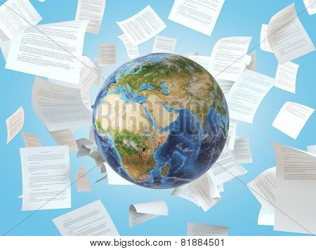 Earth And  Falling Papers