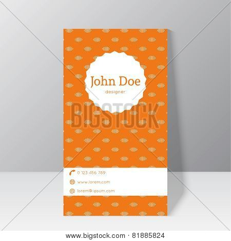 Trendy business card template
