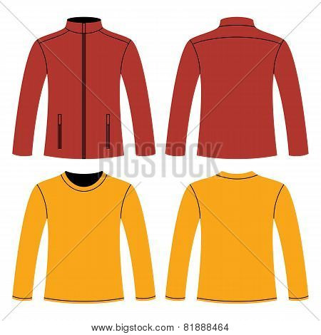 Jacket And Long-sleeved T-shirt Template