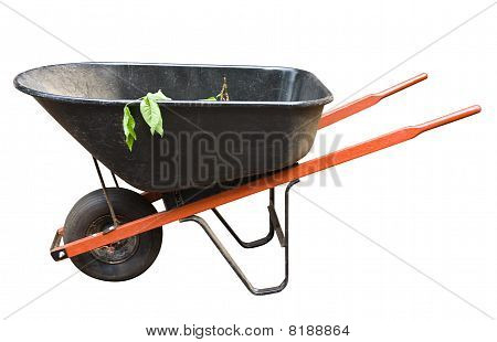 Old Wheelbarrow Isolated