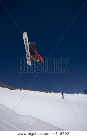 Snowboarder in the Halfpipe