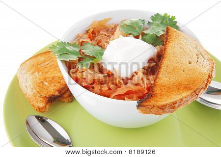 Vegetable Soup And Toasts
