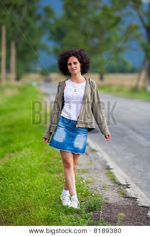 Attractive Young Woman Outdoor