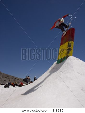 Snowboarder on a box
