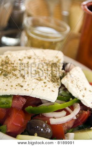 Greek Salad With House Wine
