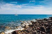 stock photo of greek-island  - Yacht near the Greek Islands - JPG