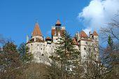image of dracula  - Bran castle in spring season - JPG