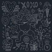 image of ero  - Set of romantic vector elements - JPG