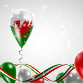picture of twist  - Flag of Wales on balloon - JPG