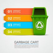 foto of dustbin  - Graphic information Ecological trash art - JPG