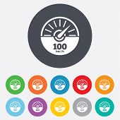 picture of speedometer  - Tachometer sign icon - JPG