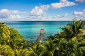 picture of caribbean  - Perfect view of caribbean lagoon Bacalar - JPG