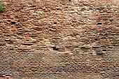Weathered and old red brick wall poster