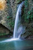 image of water-mill  - Artificial waterfall passes through the ruins of a water mill in Tuscany - JPG