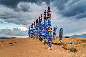 stock photo of totem pole  - Pagan Holy Buryat Totems  - JPG