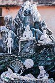 pic of shiva  - A plaster carving of the god Shiva sitting in meditation - JPG